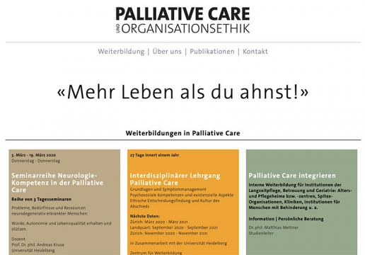 Weiterbildung Palliative Care