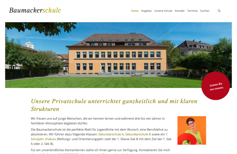 Baumackerschule – Private Sekundarschule in Oerlikon